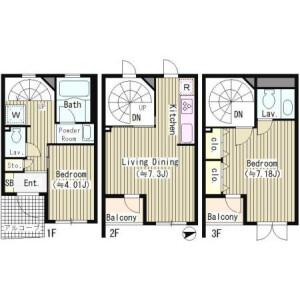 2LDK House in Motoyoyogicho - Shibuya-ku Floorplan
