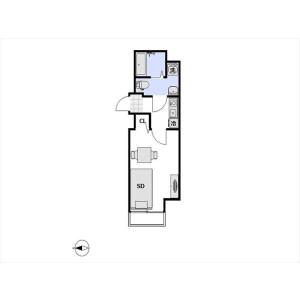 1K Mansion in Toyo - Koto-ku Floorplan