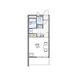 1K 맨션 in Ominami - Musashimurayama-shi Floorplan