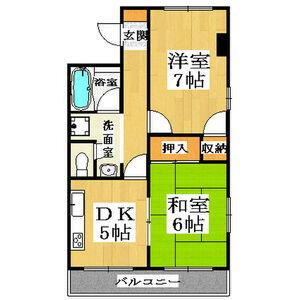 2DK Mansion in Saiin takadacho - Kyoto-shi Ukyo-ku Floorplan