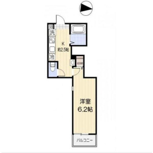 1K Apartment in Nakanobu - Shinagawa-ku Floorplan