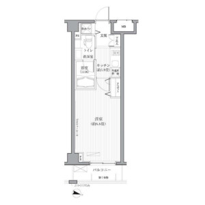 1K Apartment in Nishishinjuku - Shinjuku-ku Floorplan