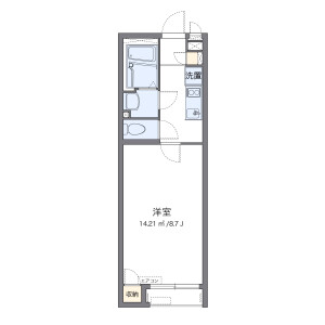 1K Mansion in Tengachayahigashi - Osaka-shi Nishinari-ku Floorplan