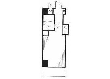 1R Apartment to Rent in Yokohama-shi Minami-ku Floorplan