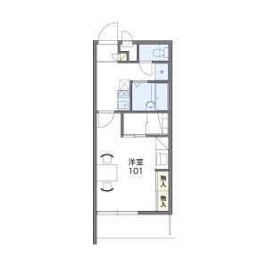 1K Mansion in Shirasuka - Yokkaichi-shi Floorplan