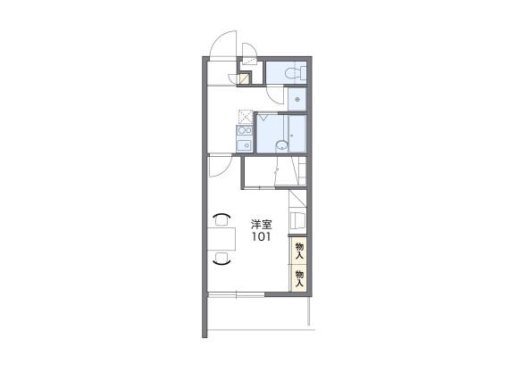 1K Apartment to Rent in Yokkaichi-shi Floorplan