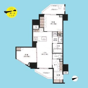 2LDK {building type} in Ikejiri - Setagaya-ku Floorplan