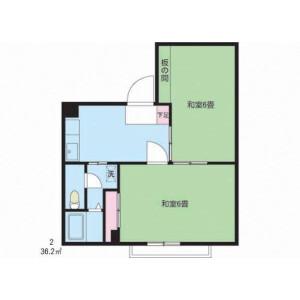2DK Mansion in Nakakasai - Edogawa-ku Floorplan