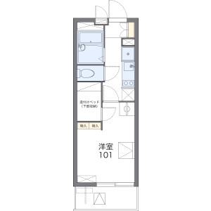 1K Mansion in Hama - Maizuru-shi Floorplan
