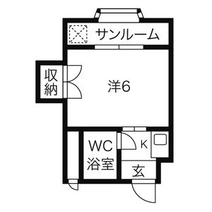 1K Apartment in Shinkiyosu - Kiyosu-shi Floorplan