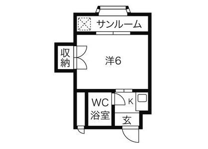 1K Apartment to Rent in Kiyosu-shi Floorplan