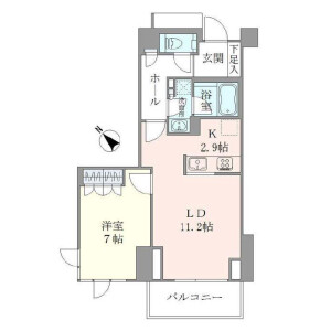 1LDK Apartment in Ebisunishi - Shibuya-ku Floorplan
