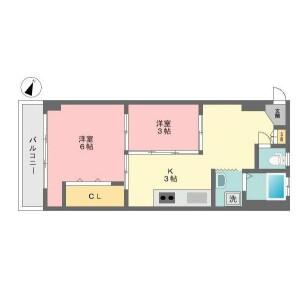 2DK Mansion in Hyakunincho - Shinjuku-ku Floorplan