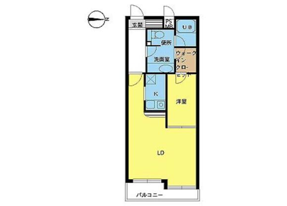 在杉並區內租賃1LDK 公寓大廈 的房產 房間格局