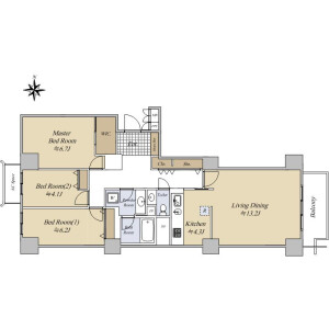 3LDK {building type} in Hiroo - Shibuya-ku Floorplan
