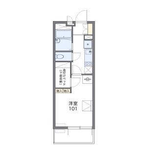 名古屋市北区柳原-1K公寓大厦 楼层布局