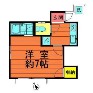 1K Apartment in Megurohoncho - Meguro-ku Floorplan