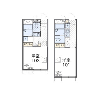 1K Apartment in Kaijin - Funabashi-shi Floorplan