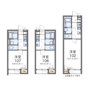 1K Apartment in Takatori - Yokosuka-shi Floorplan