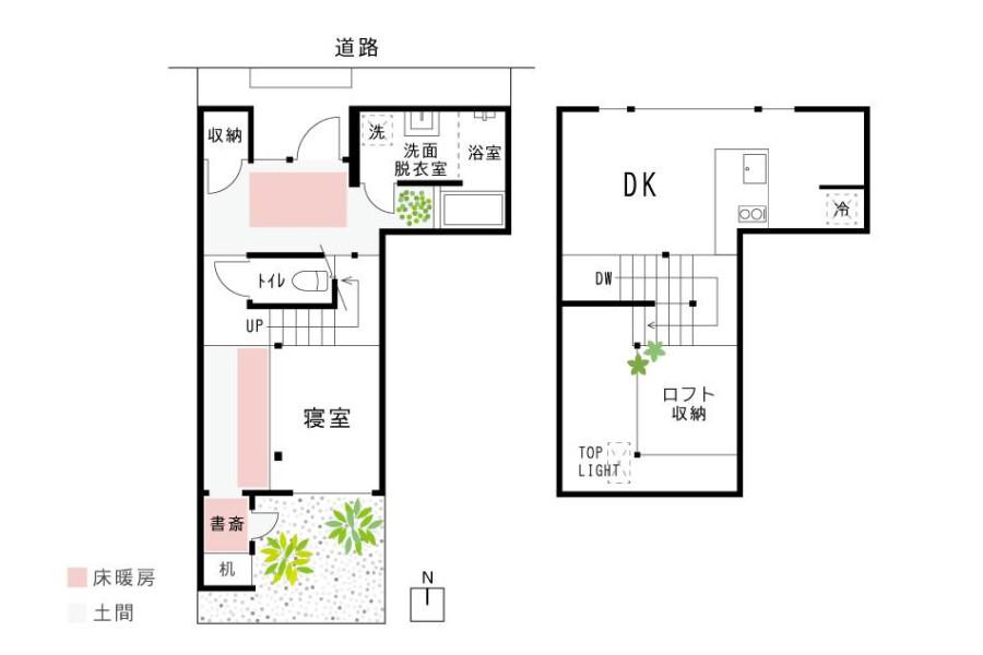 1DK House to Buy in Kyoto-shi Kita-ku Floorplan