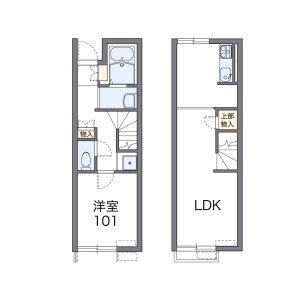 1LDK Apartment in Naruto - Sammu-shi Floorplan