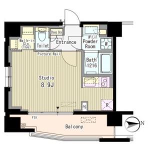 1K Mansion in Kamiyamacho - Shibuya-ku Floorplan