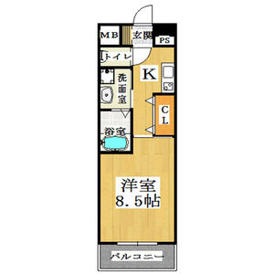 1K Mansion in Shimanochi - Osaka-shi Chuo-ku Floorplan