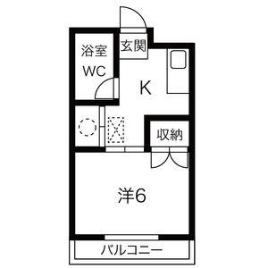 1K Mansion in Kawasumicho - Nagoya-shi Mizuho-ku Floorplan
