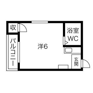 1R Mansion in Awaji - Osaka-shi Higashiyodogawa-ku Floorplan