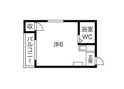 1R Apartment to Rent in Osaka-shi Higashiyodogawa-ku Floorplan