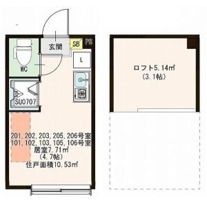 1R Apartment in Nishigahara - Kita-ku Floorplan