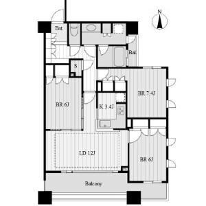 名古屋市中区錦-3LDK公寓 楼层布局