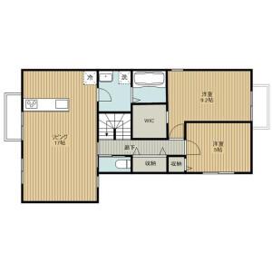 2LDK Apartment in Miyacho - Saitama-shi Omiya-ku Floorplan