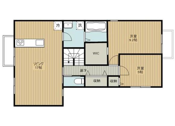 2LDK Apartment to Rent in Saitama-shi Omiya-ku Floorplan