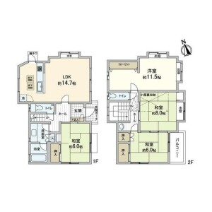 4LDK {building type} in Tadodai - Yokosuka-shi Floorplan