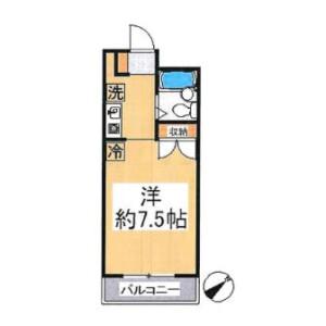 1R Mansion in Sachigaoka - Yokohama-shi Asahi-ku Floorplan