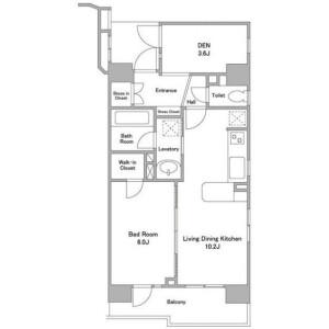 1SLDK Mansion in Shimomeguro - Meguro-ku Floorplan