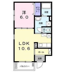 港区白金-1LDK公寓大厦 楼层布局