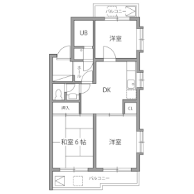 3DK Mansion in Narimasu - Itabashi-ku Floorplan