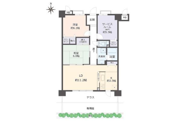 2SLDK Apartment to Buy in Uji-shi Floorplan