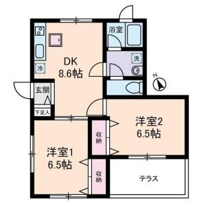 2DK Apartment in Mejiro - Toshima-ku Floorplan