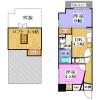 2SDK Apartment to Rent in Osaka-shi Kita-ku Floorplan