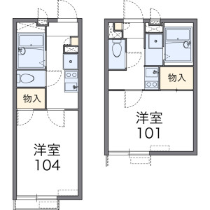 1K Apartment in Hoshigaoka - Sagamihara-shi Chuo-ku Floorplan