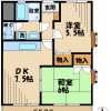 2DK Apartment to Rent in Hino-shi Floorplan