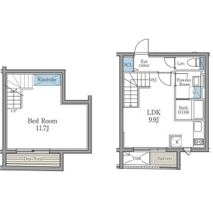 1LDK Mansion in Kamiuma - Setagaya-ku Floorplan