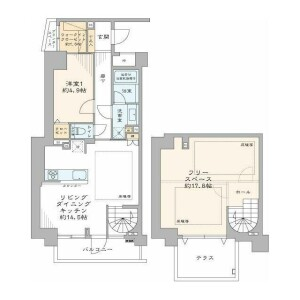 1LDK {building type} in Higashigotanda - Shinagawa-ku Floorplan