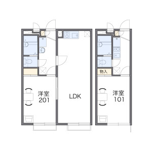 1K Apartment in Sakurayama - Zushi-shi Floorplan