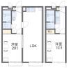 在逗子市内租赁1K 公寓 的 楼层布局