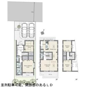 世田谷區深沢-4LDK{building type} 房間格局