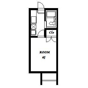 1K Apartment in Shimizucho - Kawagoe-shi Floorplan